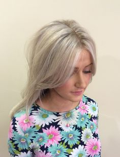 Platinum blonde, Ash blonde grey blonde toner highlights - I need to do this with my hair so that I don't need to hide the grey anymore