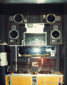 The side stage DJ booth at Fac51 (The Hacienda). No Serato needed to change the fact of popular music forever...