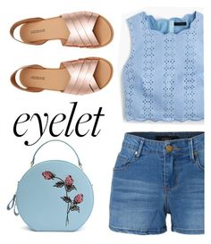 """""""eyelet"""" by maripir on Polyvore featuring LE3NO and J.Crew"""