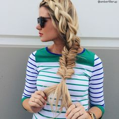 Chunky braid into a fishtail