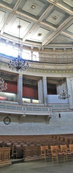 Chamber of the Old Parliament, National Historical Museum, Home of the first Greek Parliament (designed by Francois Boulanger), Stadiou Str. National Historical Museum, Athens Greece, Concierge, Museums, Greek, Old Things, Bucket, Spaces, Architecture