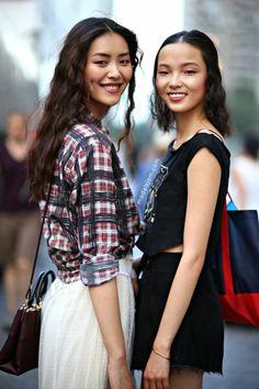 double trouble. #LiuWen & #XiaoWenJu #offduty in NYC.