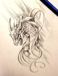 Angry Dragon Snake tattoo