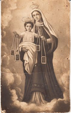 Catholic Art, Religious Art, Lady Of Mount Carmel, Religious Pictures, Blessed Mother Mary, Mary And Jesus, Holy Mary, Virgin Mary, Madonna