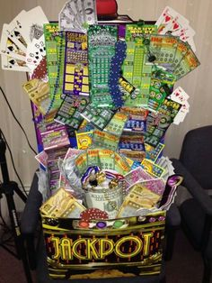 Lottery Scratch off basket Great for fundraisers order  your basket today.. email theresagift@aol.com   Can customize to your cause,birthdays anniversaries, showers, etc.