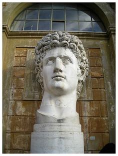 The sculpture garden of the Vatican museum. Thanks to Joe Geranio, I now know that this is Augustus. Early January 2008.