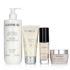 """229443 """"As Is"""" Gatineau Skin Perfecting Collection for Face & Body QVC PRICE: £78.00 AS IS PRICE: £52.96 + P&P: £5.95 This four-piece skincare collection from Gatineau comprises Melatogenine AOX Probiotics Advanced Rejuvenating Cream and Youth Activating Beauty Serum, plus Anti-Aging Gommage and Body Lotion with A.H.A. Tackle the signs of ageing head-on with this fantastic top-to-toe skincare collection from Gatineau."""