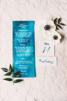 watercolor paper goods, photo by Kim Smith-Miller http://ruffledblog.com/seattle-wedding-with-vintage-glam-flair #wedding #stationery #papergoods