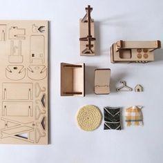 Doll's furniture milkywood  #woodentoys #lasercut #milkywood #doll #toys…