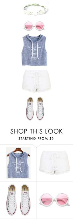 """""""<3"""" by autreywatkins ❤ liked on Polyvore featuring Topshop, Converse and ZeroUV"""