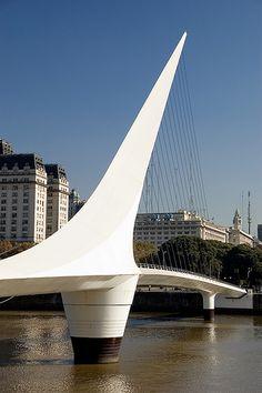 Puente de la Mujer   Buenos Aires, Argentina  Santiago Calatrava