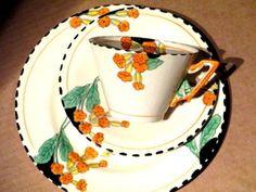 Burleigh Tea set trio. Zenith pattern, Meadowland pattern (No. 4807)