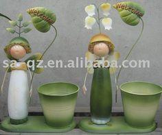 metal garden decoration plant pot