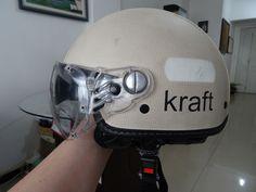 Capacete Kraft 56cm - Revestido Em Couro KCustom Plus - Beje