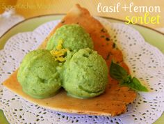 A quick treat: basil & lemon #sorbet #recipe for #Thermomix - See more at www.SuperKitchenMachine.com!