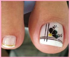 You searched for French pedicure - Nails Pedicure Nail Designs, Pedicure Nail Art, Toe Nail Designs, Pretty Toe Nails, Cute Toe Nails, Hair And Nails, My Nails, Feet Nails, Flower Nails