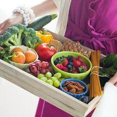 Layered Fruits and Veggies Tray