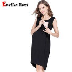 06bbf0f56d0 US $13.8 54% OFF|Aliexpress.com : Buy Emotion Moms Maternity Nursing  Breastfeeding Dress for Pregnant Women Pregnancy Women's dress Sleeveless  Mother Home ...