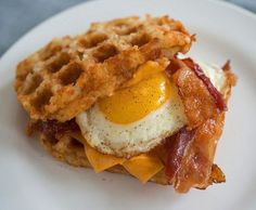 Bacon, Egg & Cheese Wafflebrown Sandwich | 23 Breakfasts That Might Actually Save Your Life