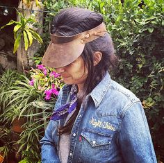 Classic Leather Visor by RightTribe on Etsy
