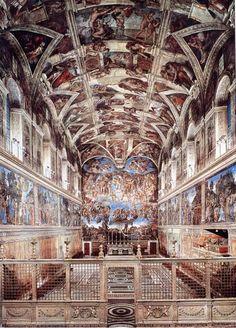 sixtijnse kapel rome Michelangelo. gemaakt in 4 jaar in opdrcht van Paus Julius II