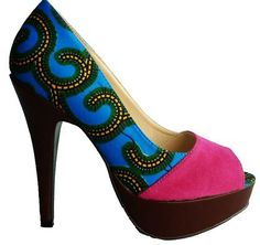 Our vibrant and beautiful East meets West pumps! £49.99