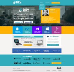 Create a front end landing page to a well known conference! by Constantin Bors