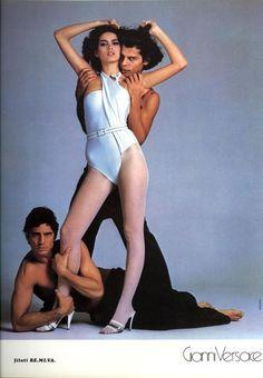 Gianni Versace Spring/Summer 1980 Vogue Italia 1980 Photo Richard Avedon Model Gia Carangi