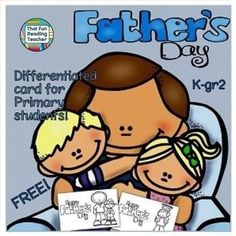 Free, differentiated, printable #FathersDay card #WritingForRealPurposes