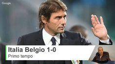 Italia Belgio 1-0 Gol Giaccherini Primo tempo - Commento a Caldo Diretta