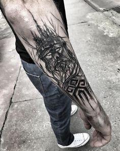 Tattoo Forearm Geometric Black 34 Ideas Source by Trendy Tattoos, New Tattoos, Body Art Tattoos, Sleeve Tattoos, Tattoos For Guys, Cool Tattoos, Black Tattoo Art, Black Tattoos, Tribal Tattoos