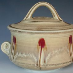 Porcelain Pottery Casserole by gr8clay on Etsy, $98.00
