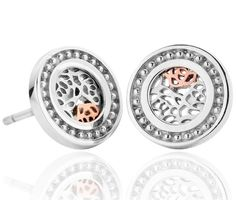 Clogau Earrings Royal Roses Stud Silver | C W Sellors Fine Jewellery and Luxury Watches
