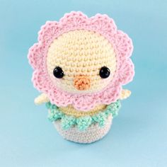 Today we're going to make a funny chick amigurumi that can be masked as a flower. This amigurumi pattern is suitable for beginners.
