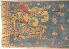cotton, kalamkari, hand painted, vegetable dye Dupatta