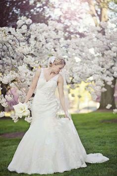 Bride in Maggie Sottero wedding gown
