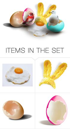 """Strange Hatchlings Happenings"" by prettyroses ❤ liked on Polyvore featuring art"