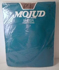 Vtg Mojud Pantyhose Sz 2X Sheer Cotton Lined Crotch Taupe 819 Reinforced-toe KR #MojudHoisery #Everyday