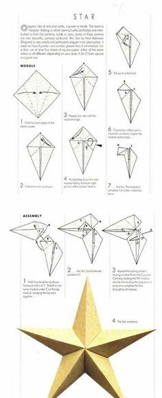 立体五角星...来自336493的图片分享-堆糖网