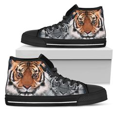 Tiger Women's High Top Shoe – Wear Saga Snug Fit, Tigers, Saga, Converse Chuck Taylor, High Top Sneakers, Take That, How To Wear, Stuff To Buy, Outfits