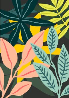 """Receive wonderful pointers on """"contemporary abstract artists"""". They are offered for you on our website. Pattern Illustration, Art And Illustration, Pattern Vegetal, Painting Inspiration, Art Inspo, Cute Wallpapers, Wallpaper Backgrounds, Tropical Art, Motif Floral"""