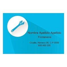 Tarjetas de Visita Una Cara Horizontal Manitas Azul Business Cards, Faces, Blue