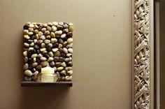 DIY Stone Sconces