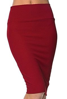 Women's Weekend Skirts - Urban CoCo Womens High Waist Stretch Bodycon Pencil Skirt -- You can find out more details at the link of the image. (This is an Amazon affiliate link)