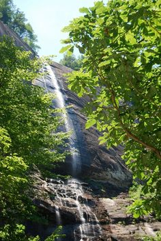 Hickory Nut Falls at Chimney Rock Nc Waterfalls, North Carolina Waterfalls, North Carolina Homes, Biltmore Estate, Blue Ridge Parkway, Asheville, Mountain View, Places Ive Been, This Is Us