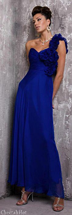 JOVANI - Royal Blue Gown - More Details → http://sherryfashiondesignblog.blogspot.com/2012/07/jovani-royal-blue-gown.html.