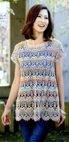 Me encanta... Crochet pineapple shirt