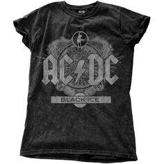 AC/DC Ladies Fashion Tee: Black Ice Wholesale Ref:ACDCSWASH01LB