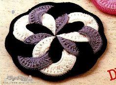 Crochet Rug... link for the pattern chart: http://labhousehold.com/beautiful-rug-for-stool.html ... mat sidushka