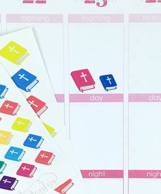 24 Colorful Bible Stickers – Perfect for Erin Condren, Plum Paper Planner, Inkwell Press, Filofax, Scrapbooking & More